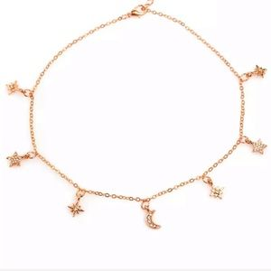 BOGO! Rose Gold Star & Moon Necklace Choker Boho